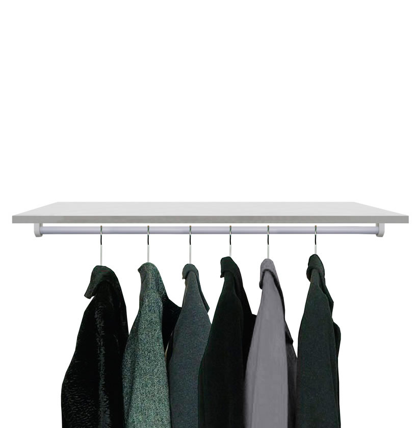 Shelf With Closet Rod Home Design Ideas And Pictures
