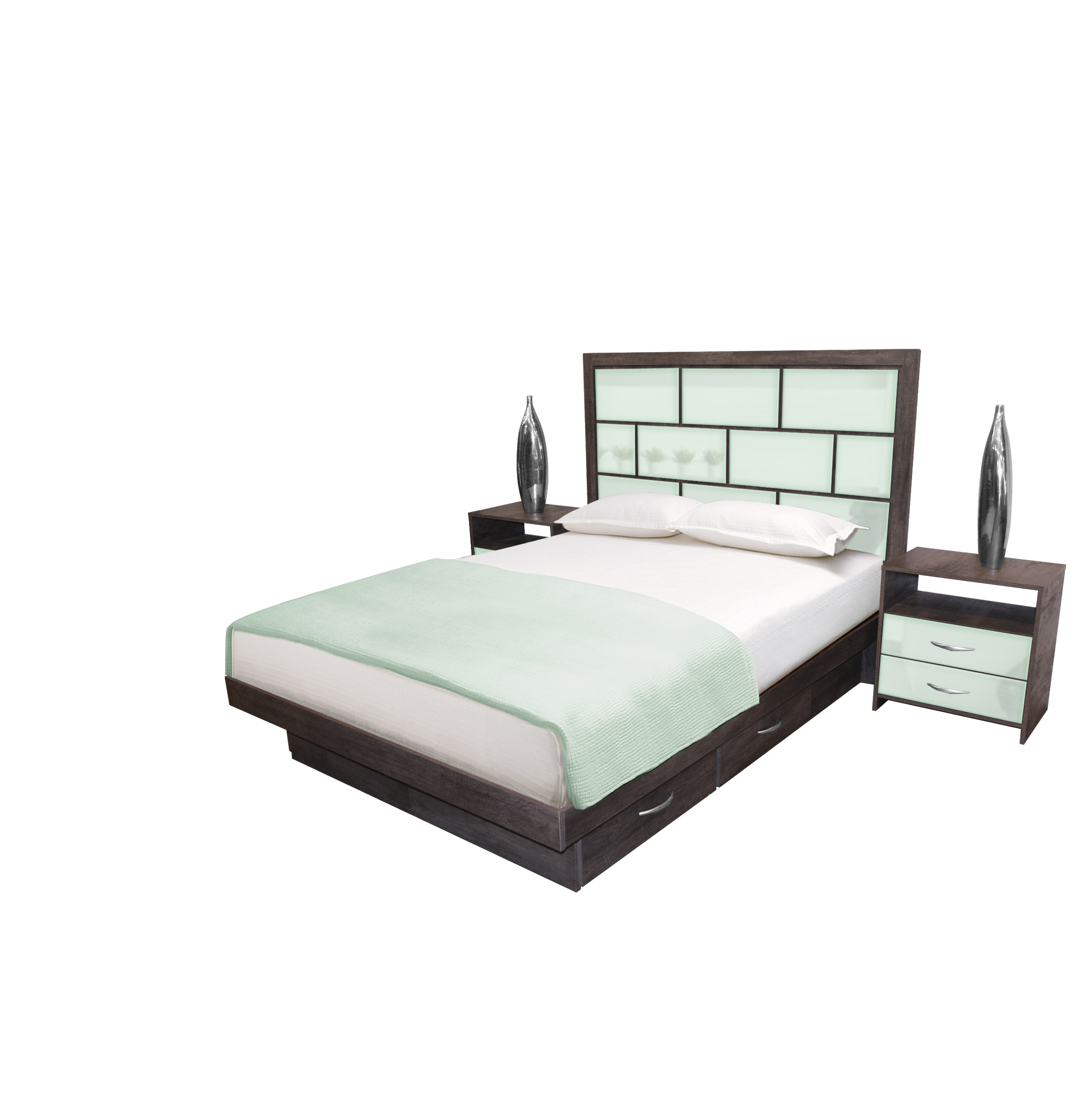 manhattan bedroom set 4 pc modern bedroom contempo space
