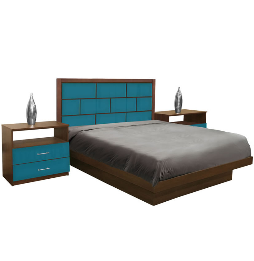 manhattan king size platform bedroom set 4 piece