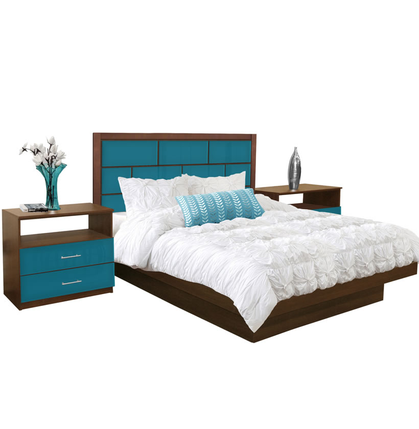 Manhattan King Size Platform Bedroom Set 4 Piece Contempo Space