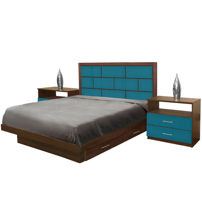 manhattan king size bedroom set w storage platform contempo space