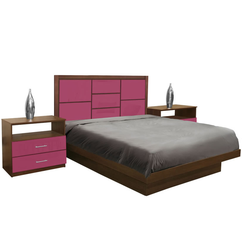 uptown king size platform bedroom set 4 piece contempo space