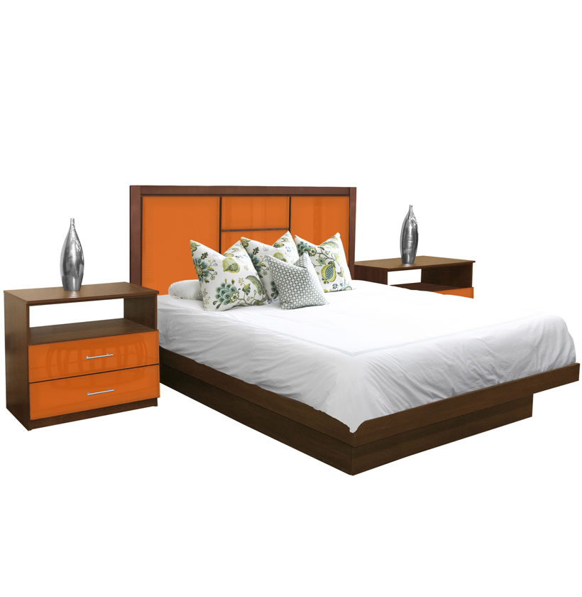 broadway king size platform bedroom set 4 piece contempo space