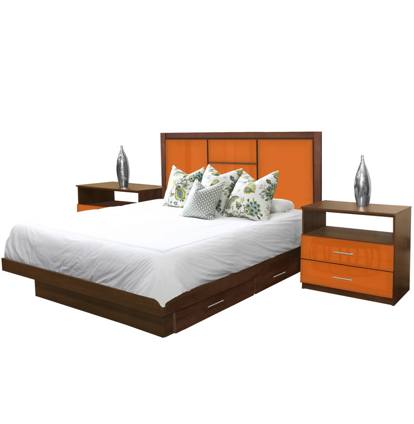 Broadway King Size Bedroom Set W Storage Platform Contempo Space