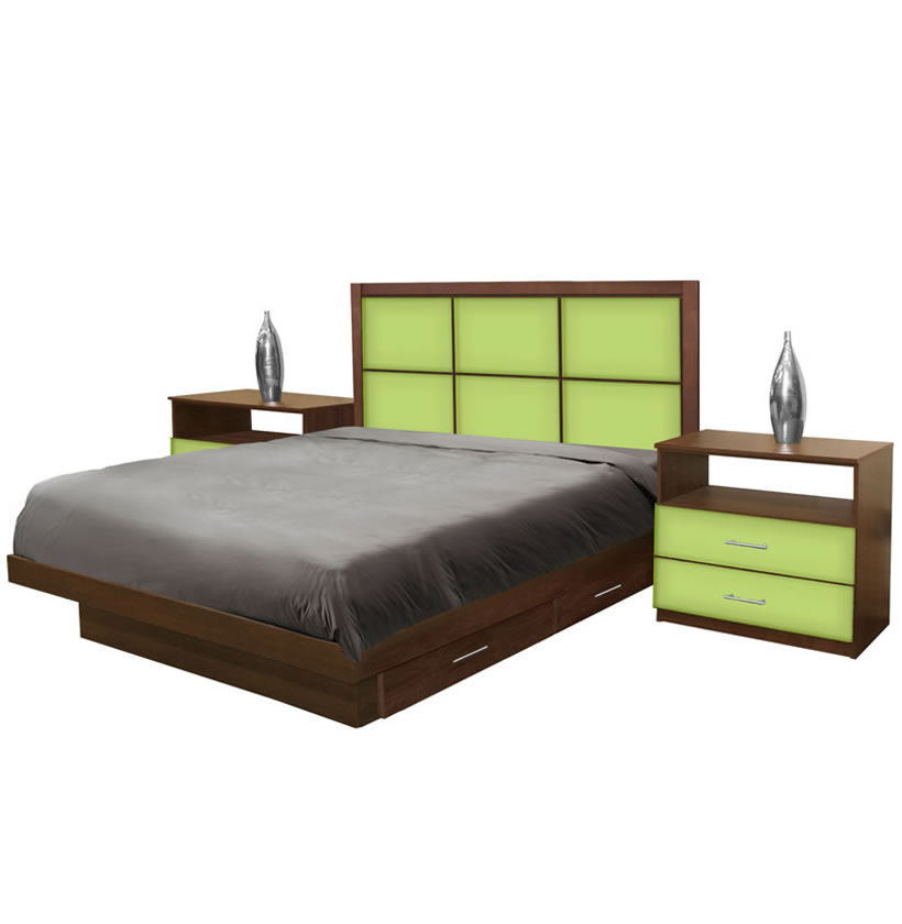 rico king size bedroom set w storage platform contempo space