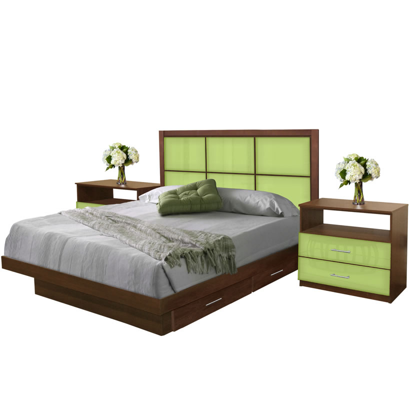king size bedroom set w storage platform contempo space