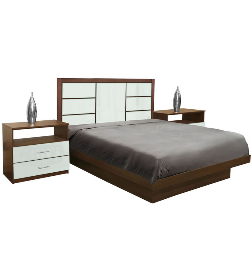 downtown king size platform bedroom set 4 piece contempo