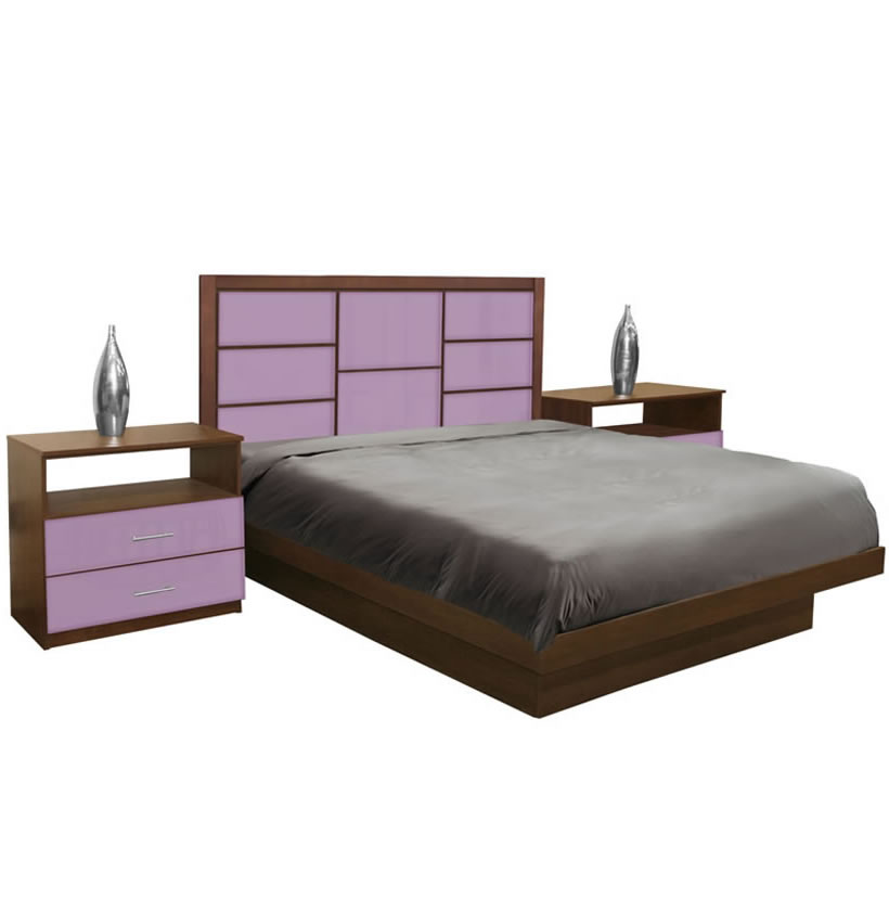 montclair king size platform bedroom set 4 piece contempo space