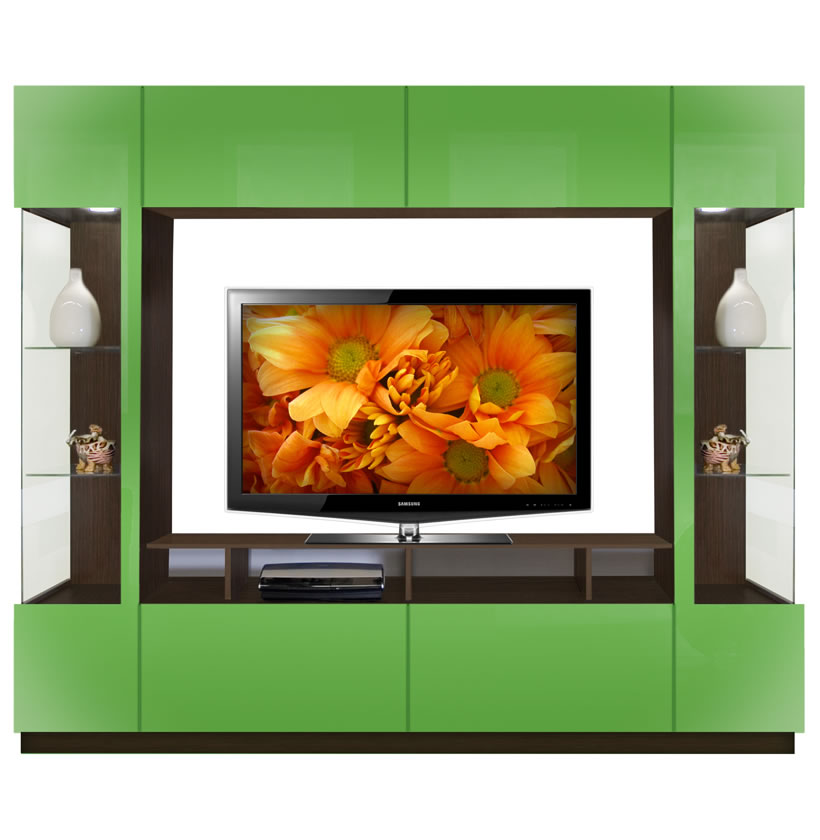 Brent Entertainment Center Two Sided Curio Displays