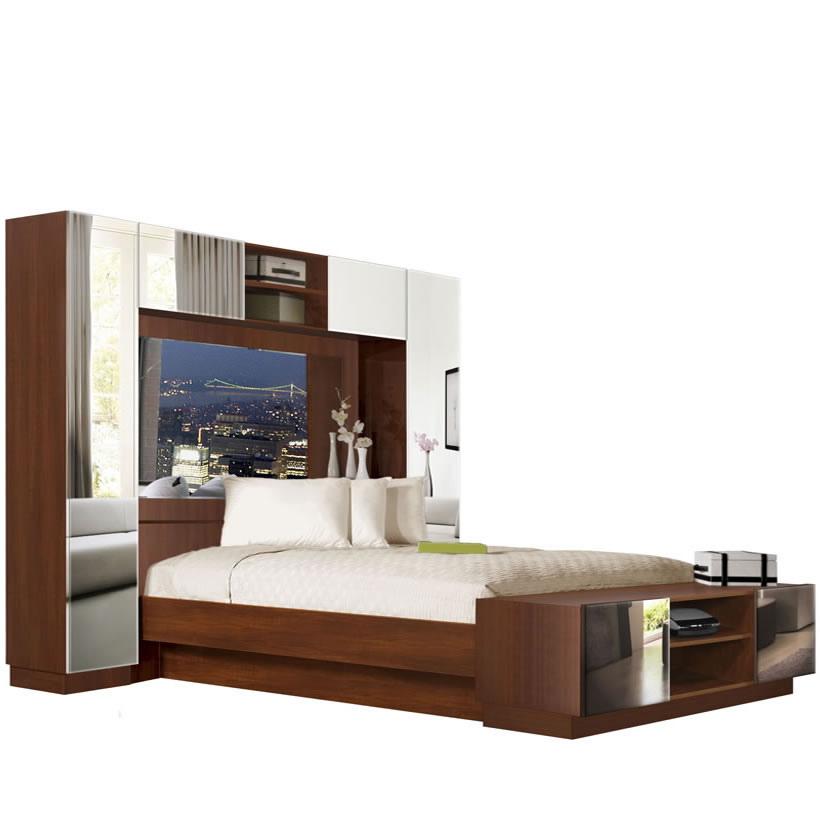chilton pier wall bed with mirrored headboard contempo space metal canopy bed with curved headboard transitional