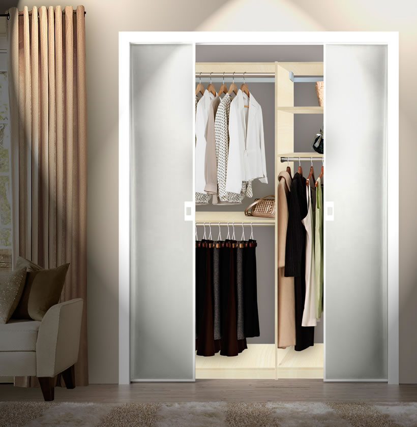 Captivating Custom Double Hanging Closet; Custom Double Hanging Closet Built In Closet  Inside
