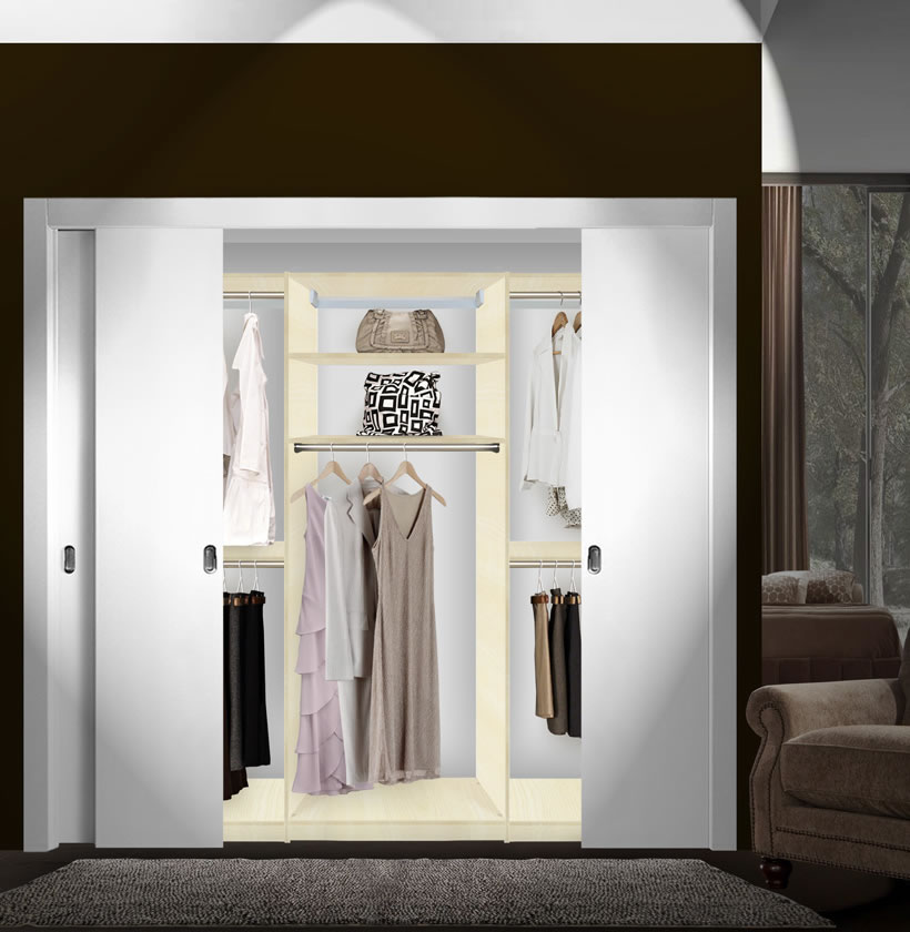 Isa custom closets extra hanging clothes storage for Extra closet storage