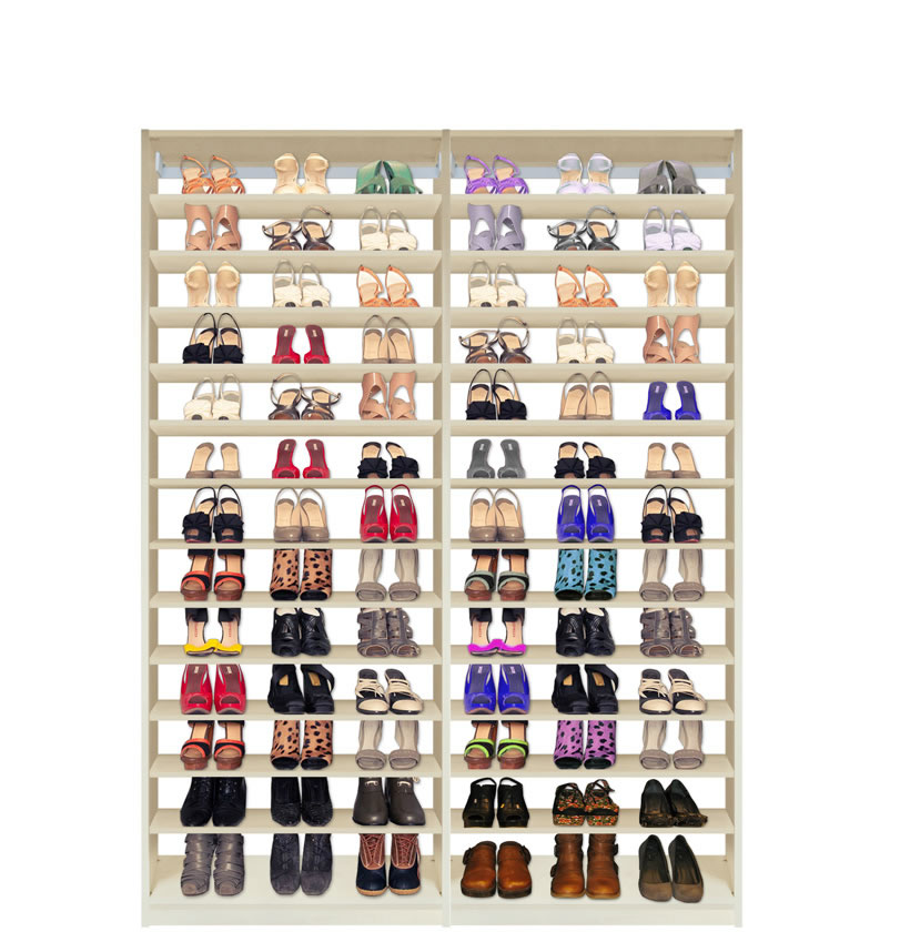 Isa Custom Shoe Closet Double Module Shoe Storage