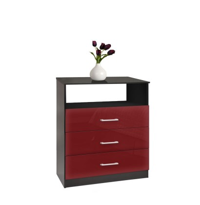 Freedom Dresser - Chest of 3 Drawers with Open Space