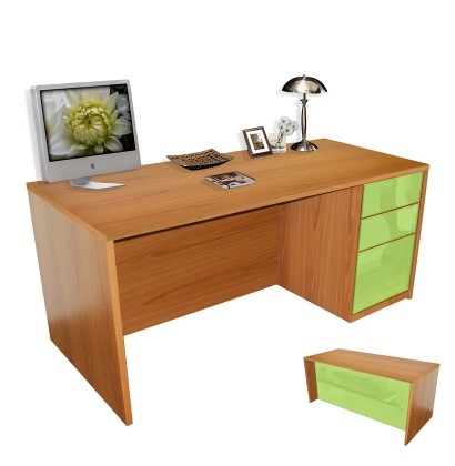 Alexis Executive Desk Full Right Pedestal
