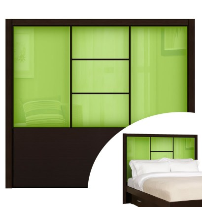 Green Apple Colored Glass - Broadway Queen Headboard