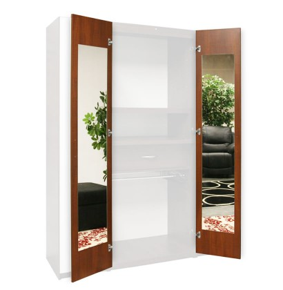 Wardrobe Closet Mirrored Interior - Door Mirrors, 165 Degree Hinges