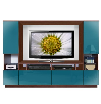 marco entertainment center lagoon colored glass