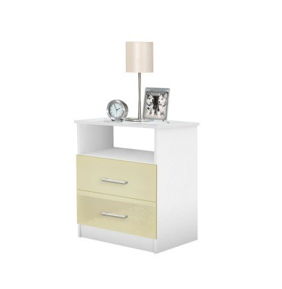 Freedom Bedside Night Table - 2 Drawer Open Top Night Stand