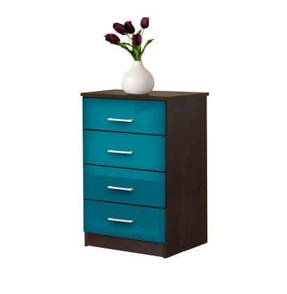 Tall Nightstand - Contemporary 4 Drawer Nightstand