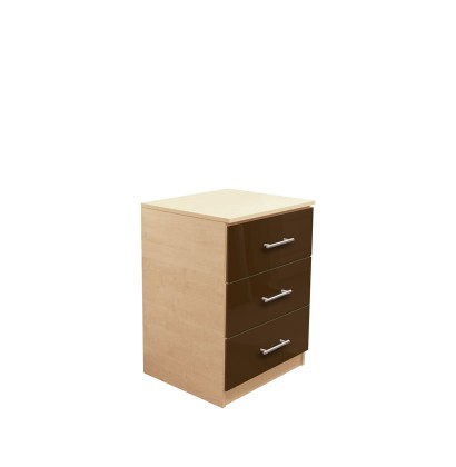 Modern Night Stand with 3 Drawers