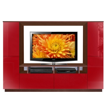Upton apple red wall unit