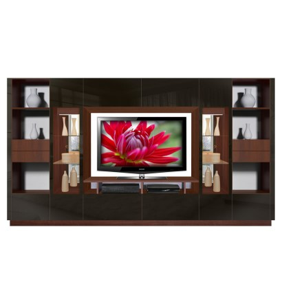 Black Entertainment Center Wall Unit black entertainment center | contempo space