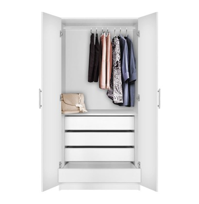 Alta Wardrobe Closet - 2 Doors, 4 Interior Drawers | Contempo Space