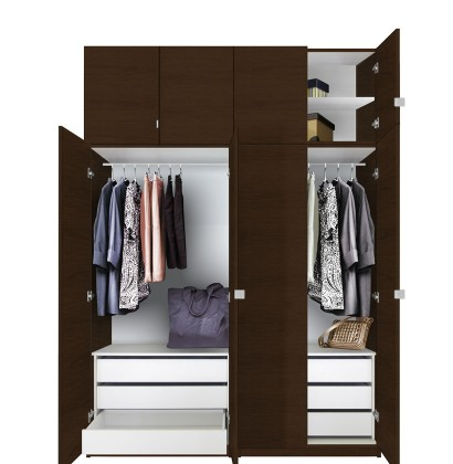 Alta Taller Wardrobe Closets   6 Drawer Wardrobe Package