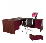 Alexis L Shaped Executive Computer Desk - Right Return