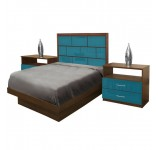 Manhattan Twin Size Platform Bedroom Set 4 Piece