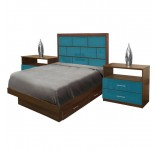 Manhattan Twin Size Bedroom Set w Storage Platform