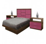 Uptown Twin Size Platform Bedroom Set 4 Piece