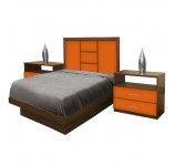 Broadway Twin Size Platform Bedroom Set 4 Piece