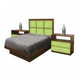 Rico Twin Size Platform Bedroom Set 4 Piece