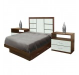 Downtown Twin Size Bedroom Set w Storage Platform