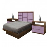 Montclair Twin Size Platform Bedroom Set 4 Piece