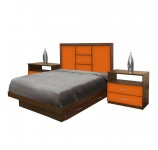 Broadway Full Size Bedroom Set w Storage Platform