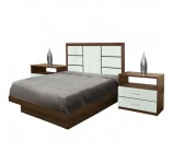 Downtown Full Size Platform Bedroom Set 4 Piece