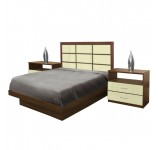 Cambridge Full Size Platform Bedroom Set 4 Piece