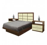 Cambridge Full Size Bedroom Set w Storage Platform