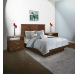 Downtown Queen Size Platform Bedroom Set 4 Piece