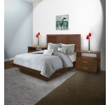 Downtown Queen Size Bedroom Set w Storage Platform