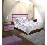 Montclair King Size Platform Bedroom Set 4 Piece
