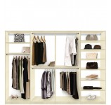 Isa Custom Closet System XL for Large Closets - Walk In or Reach In Closet Organization