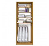 Isa Custom Closet - Hanging Clothes Below 4 Adjustable Shelves