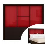 Colonial Red Colored Glass - Madison Queen Headboard