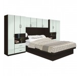 Lincoln Pier Wall Platform Bed w Matte Headboard
