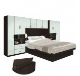 Lincoln Pier Wall Platform Bed w Storagemax Headboard