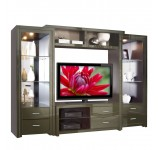 Savoy Wall Unit - Big Glass Shelves & Open Spaces